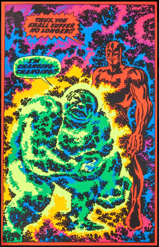 silver-surfer-blacklight-3rd eye poster